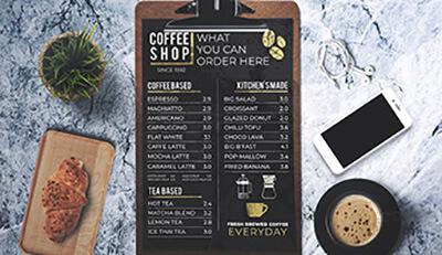 5 bí quyết in ấn menu cho quán cà phê có thể bạn chưa biết!