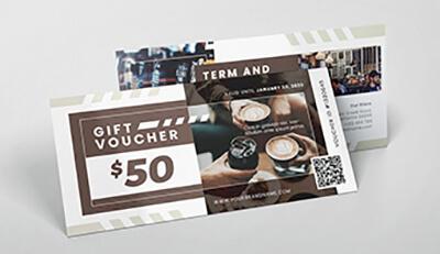 Bí quyết in ấn voucher cho quán cà phê nâng cao lợi nhuận