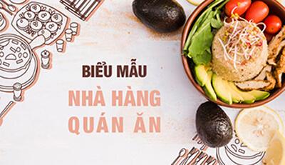 Hoàn thiện bộ nhận diện thương hiệu cho nhà hàng, quán ăn với biểu mẫu