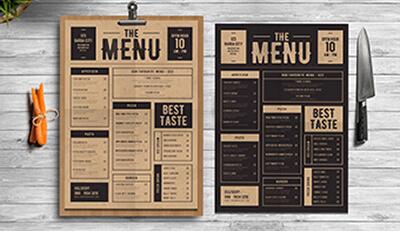 Tầm quan trọng của thiết kế menu đối với cửa hàng