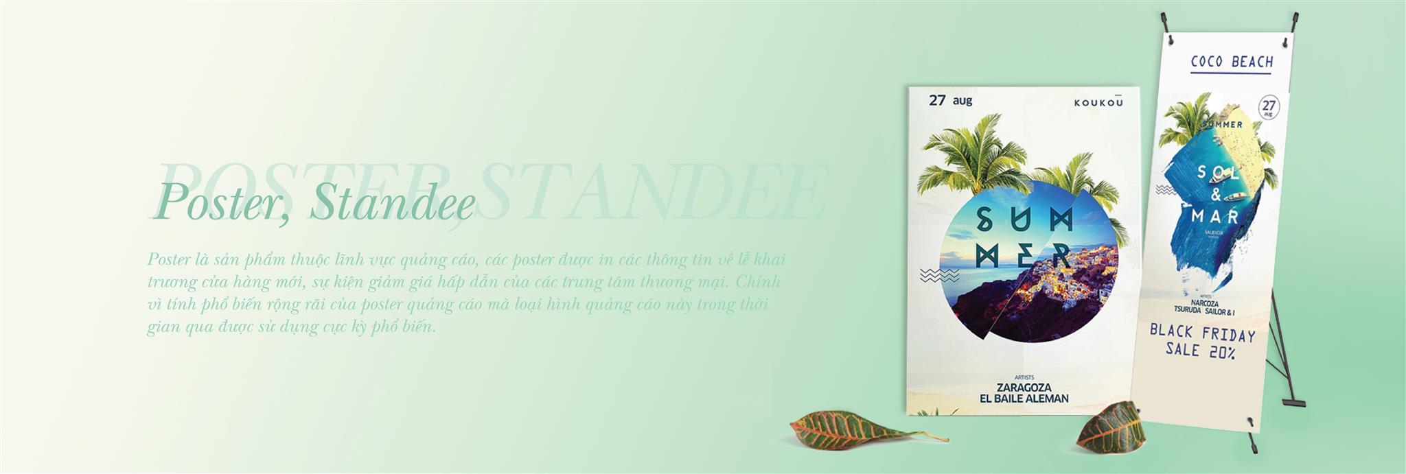 Poster - Băng rôn - Standee