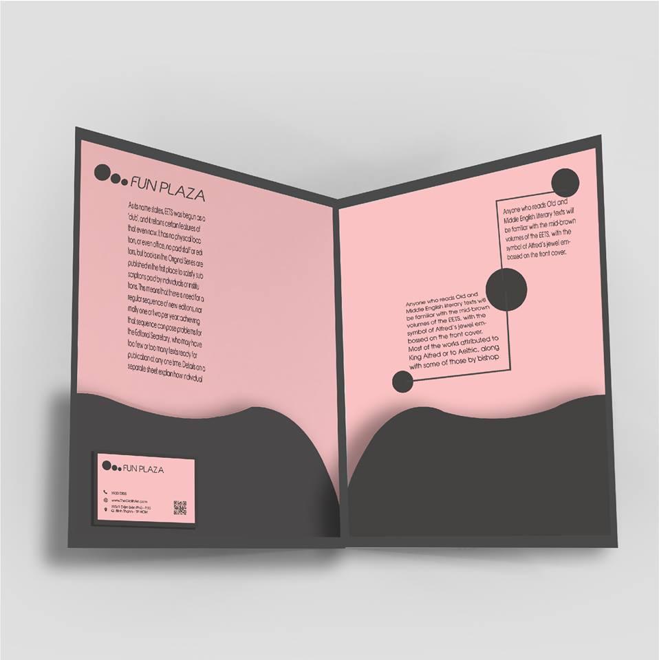 Bìa đựng hồ sơ 2 tay gấp