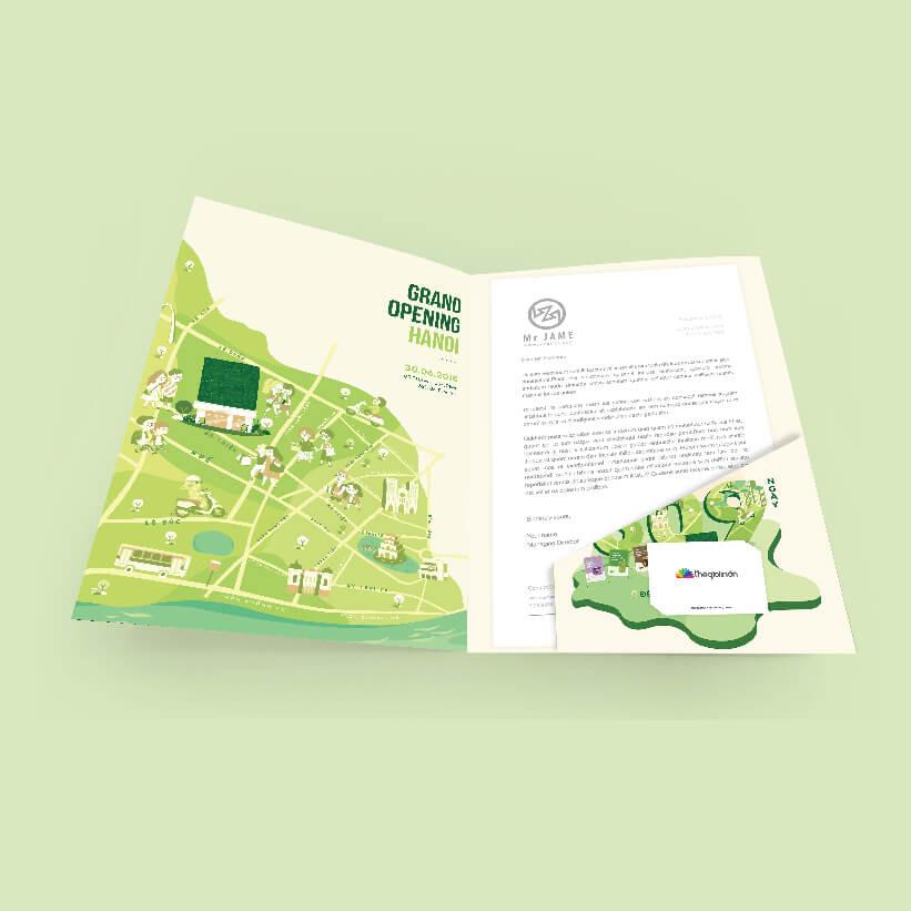 Thiết kế Folder 2 mặt